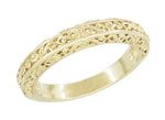 Flowing Filigree Scrolls Wedding Ring in 14 Karat Yellow Gold