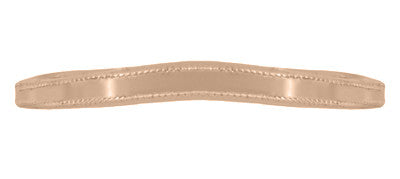Millgrain Edge Curved Wedding Band in 14 Karat Rose ( Pink ) Gold - Item: WR158RND - Image: 3