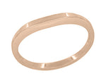 Millgrain Edge Curved Wedding Band in 14 Karat Rose ( Pink ) Gold