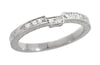 Matching wr283 wedding band for Art Deco Engraved Diamond Engagement Ring in Platinum
