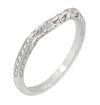 Matching wr356p wedding band for Art Deco Heirloom Engraved Filigree Diamond Engagement Ring in Platinum