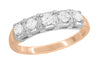 Matching wr728r wedding band for Mid Century Retro Modern Mixed Metal 14 Karat White and Rose Gold Diamond Engagement Ring