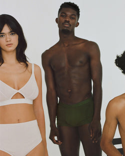The Nude Label, Cut Out Bra Organic Cotton - Wide Strap - M-L - Pearl - ROCKET SHOP LONDON