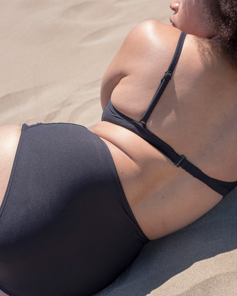The Nude Label, High Waisted Swim Bottom - Black - S-L - ROCKET SHOP LONDON