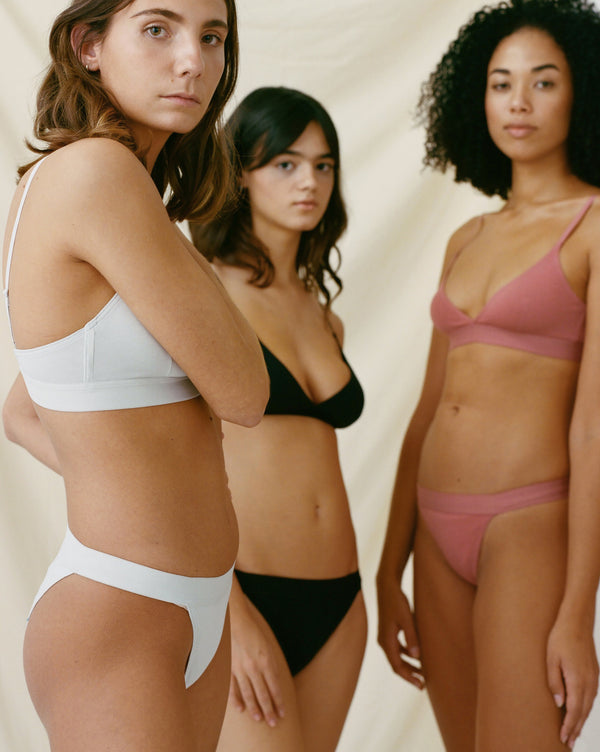 The Nude Label, Triangle Brief Organic Cotton - M-L - Black - ROCKET SHOP LONDON