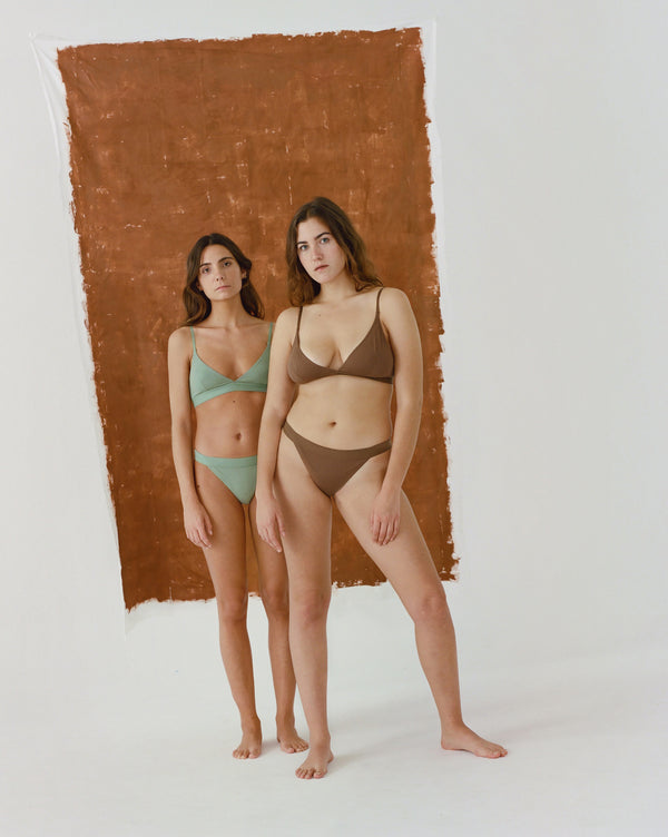 The Nude Label, Triangle Brief Organic Cotton - M-L - Chocolate - ROCKET SHOP LONDON