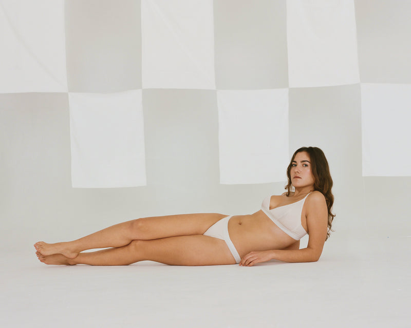 The Nude Label, Triangle Brief Organic Cotton - L - Pearl - ROCKET SHOP LONDON