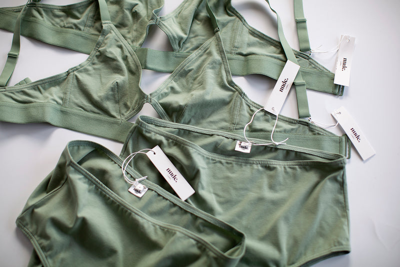 The Nude Label, High Waisted Brief Organic Cotton - Mint - S-L - ROCKET SHOP LONDON