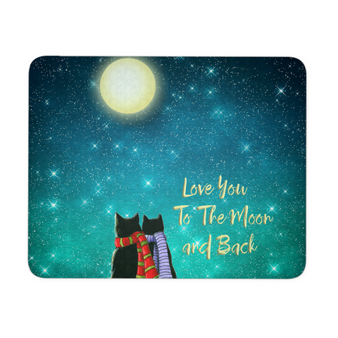 "Cat Love Mousepad ""Love To The Moon and Back"""