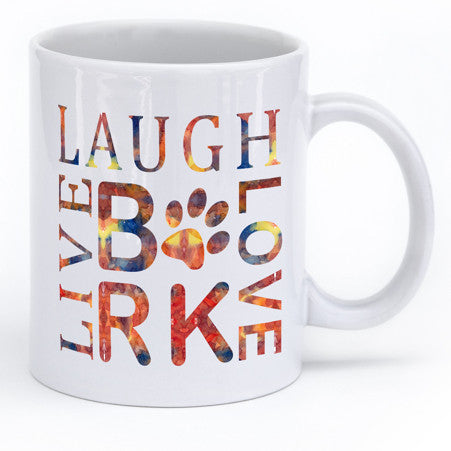 Dog Lovers Live Laugh Love Bark Mug