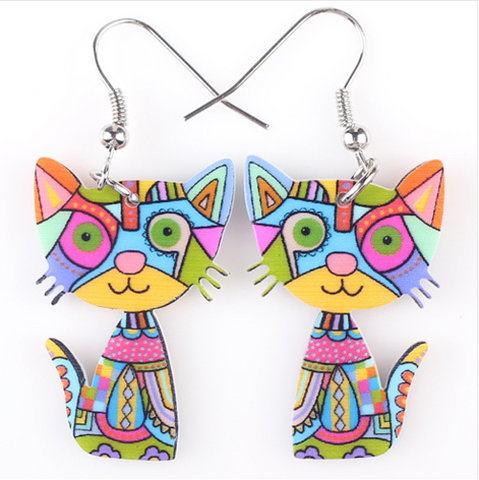 Cat Acrylic Earrings