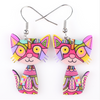 Image of Cat Acrylic Earrings