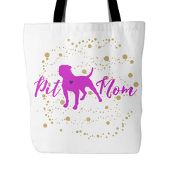 Pit Mom Pit Bull Lovers Tote Bag