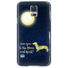 "Image of Dachshund Phone Case ""To The Moon"""