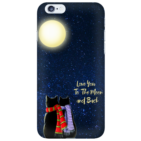 "Cat Lovers Phone Case ""Love Moon and Back"""