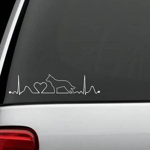 Australian Cattle Dog HeartBeat Decal