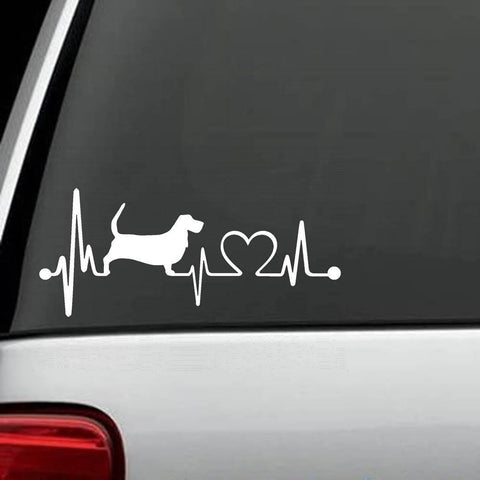 Basset Hound Unique HeartBeat Decal