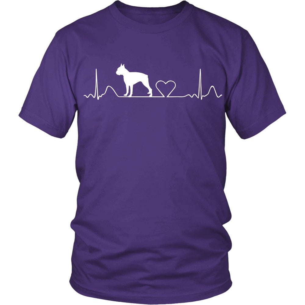 Boston Terrier - Boston Terrier Cute HeartBeat Uni-Sex Tee