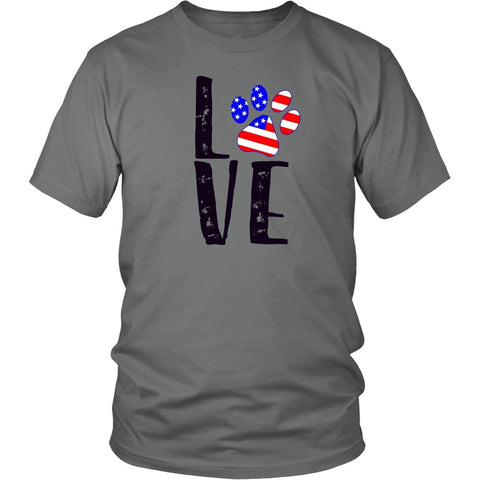 "Cats - Cat Design T-Shirt ""Patriotic Cat Love Paw"""