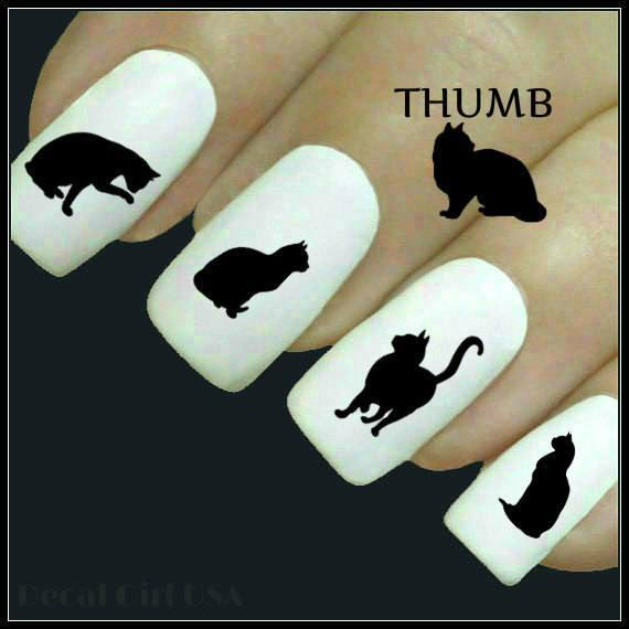 Cats - Cat Lovers Cute Grooming Nail Art Decals