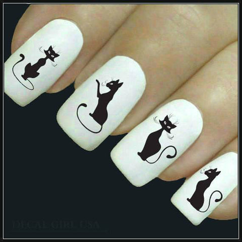 Cat Lovers Humorous Cute Nail Art Decals