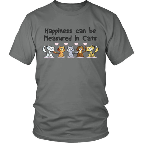 "Cats - Cat T-Shirt Design ""Happiness Measured In Cats"""