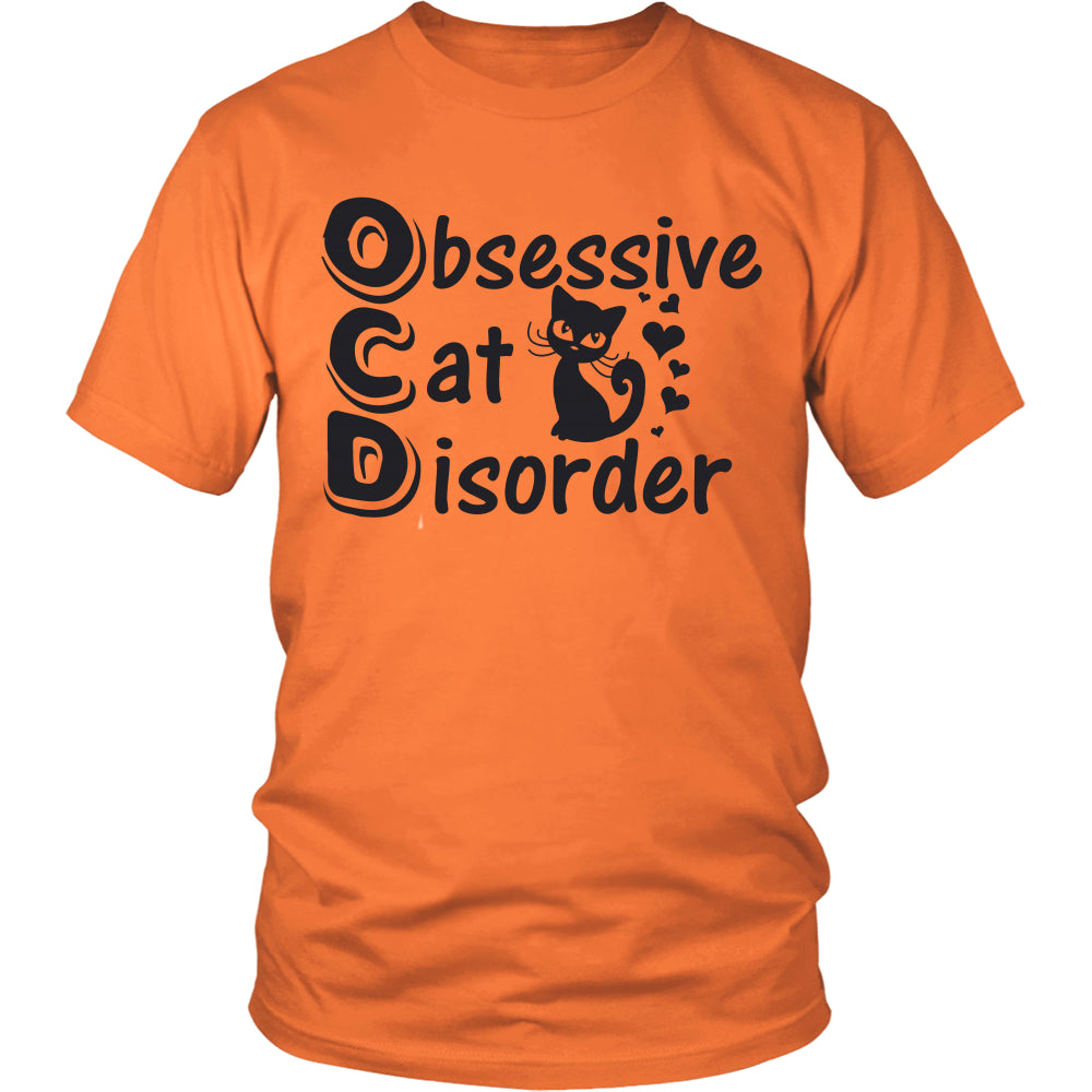 "Cats - Cat Tee ""Obsessive Cat Disorder Black Print"""