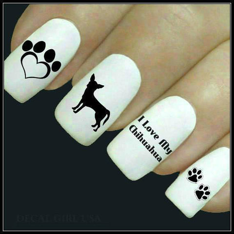 Chihuahua Dog Cute Nail Art Decals