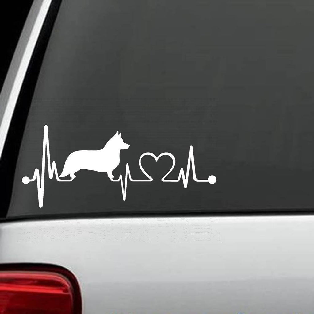 Corgi - Cardigan Welsh Corgi Heartbeat Decal