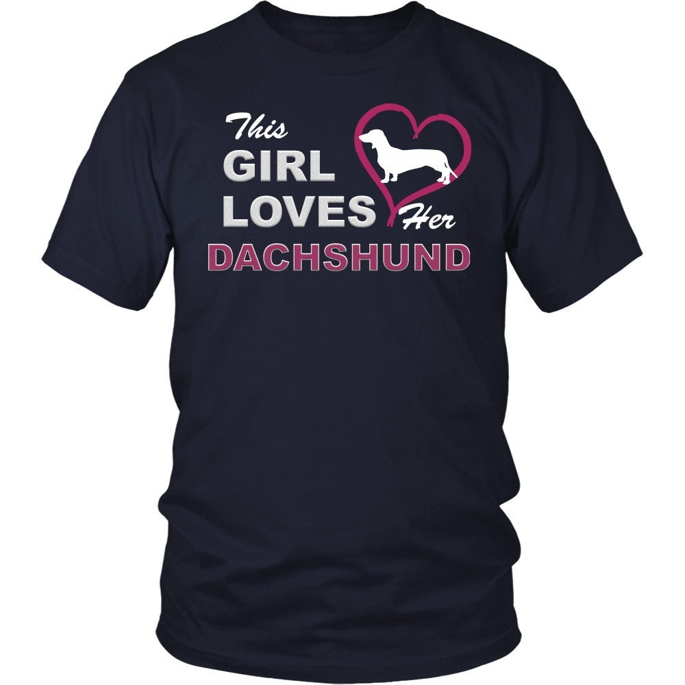 "Dachshund - Dachshund Tee ""This Girl Loves"""