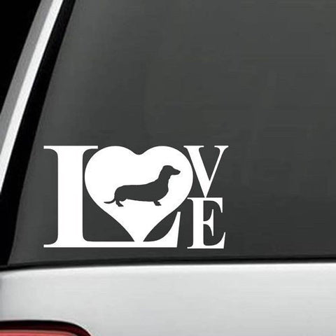 Dachshund LOVE Decal