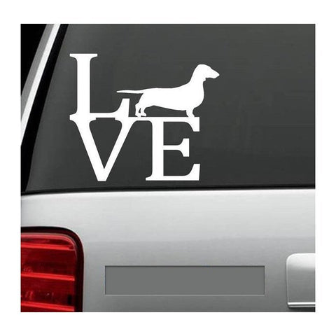 Dachshund LVE -Love decal
