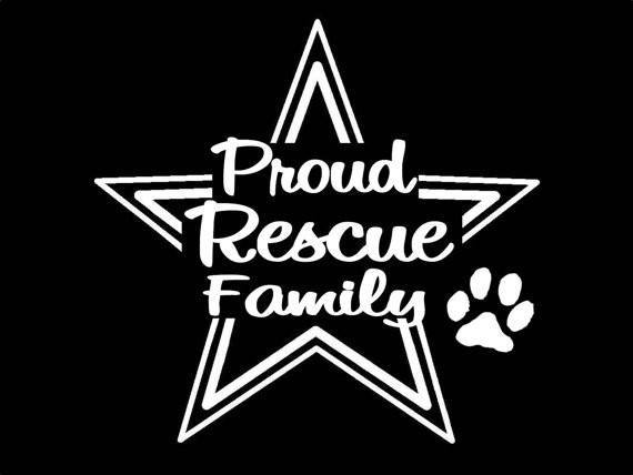 Dog Decals - Dogs Rescue Family Decal