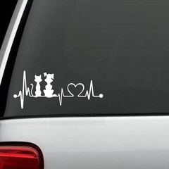 Dogs And Cats - Dog And Cat Exclusive HeartBeat Design Decal