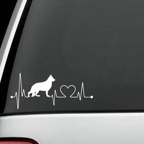 German Shepherd Heartbeat Decal
