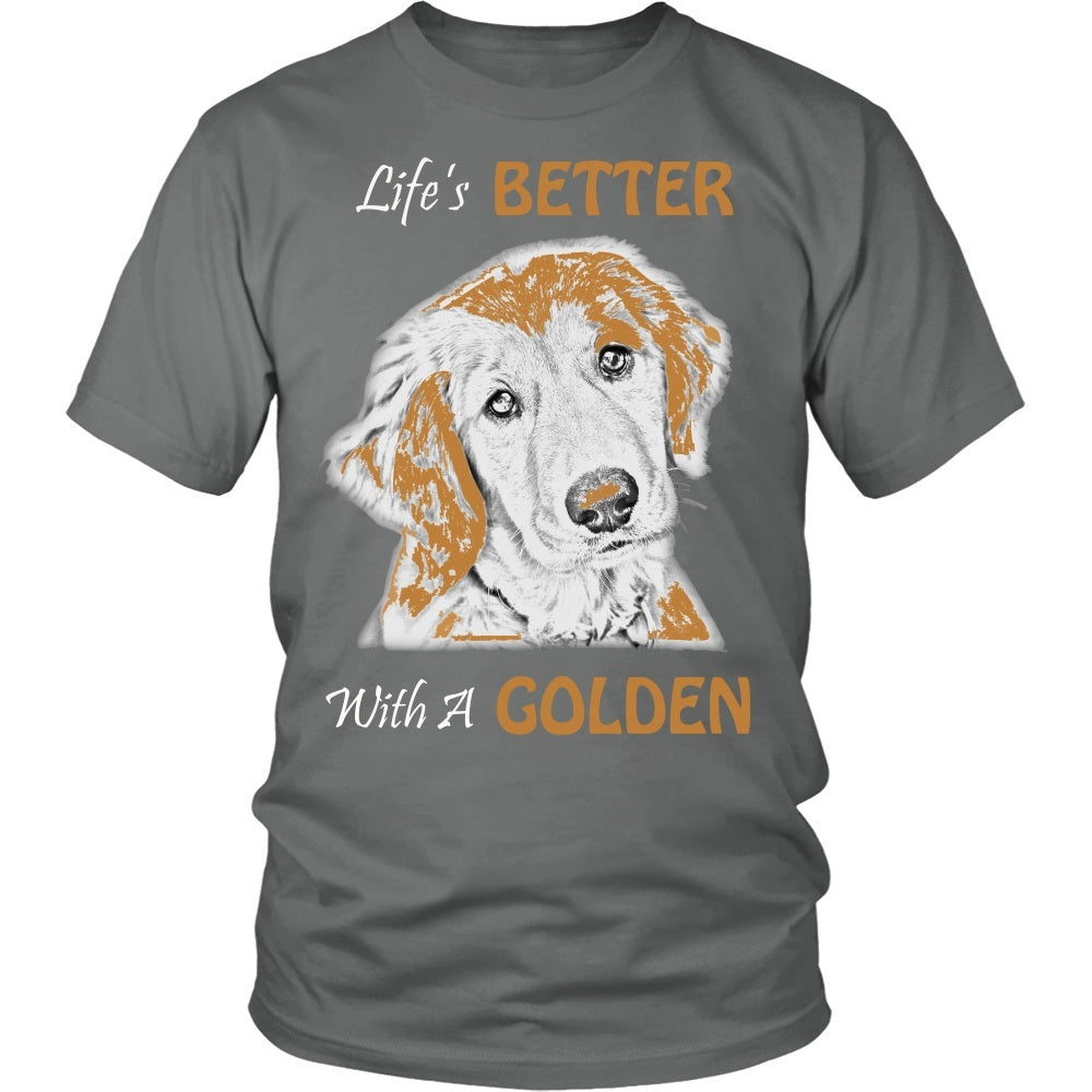 "Golden Retriever - Golden Retriever ""Life's Better With A Golden"" Unisex Tee"