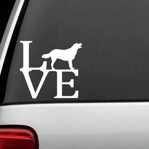 Golden Retriever LOVE Design Decal
