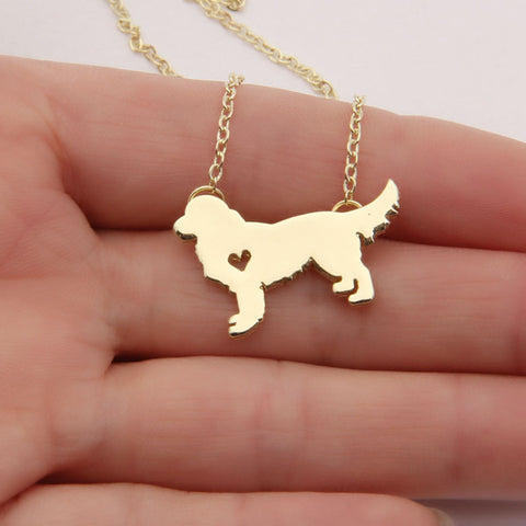 Golden Retriever Gold/Silver Plated Necklace