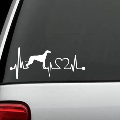 Greyhound Exclusive Heartbeat Design Decal