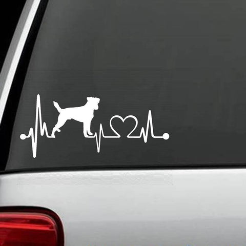 Jack Russell - Jack Russell Terrier Unique HeartBeat Decal