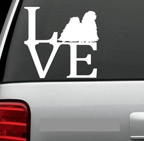 Lhasa Apso LVE - LOVE Decal