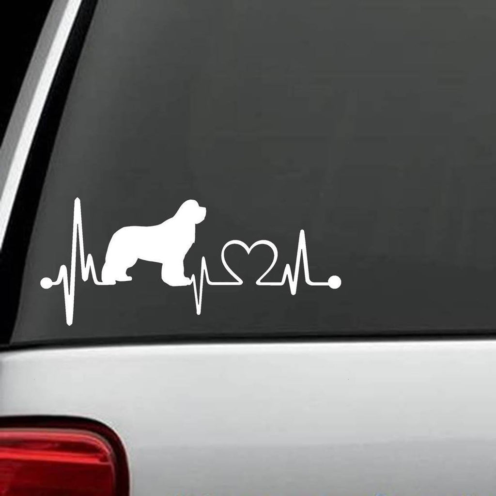 Newfoundland - Newfoundland HeartBeat Design Decal
