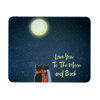 "Image of Cat Love Mousepad ""Love To The Moon and Back"""