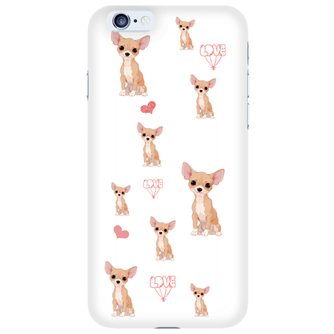 Phone Cases - Chihuahua Love Phone Case