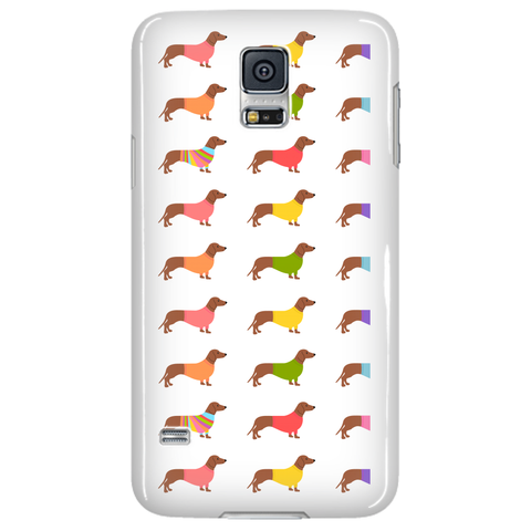 "Phone Cases - Dachshund Phone Case ""Wearing Sweaters"""