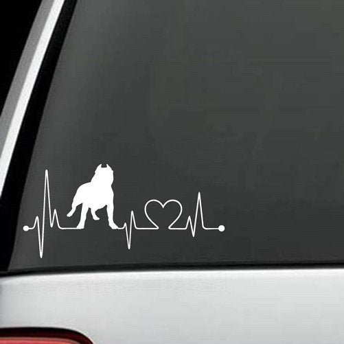 Pit Bull - Pit Bull HeartBeat  Decal