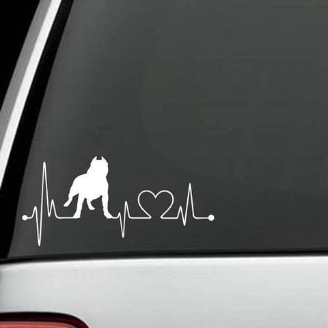 Pit Bull HeartBeat  Decal