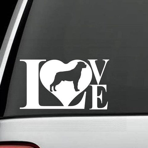 Rottweiler LOVE Decal