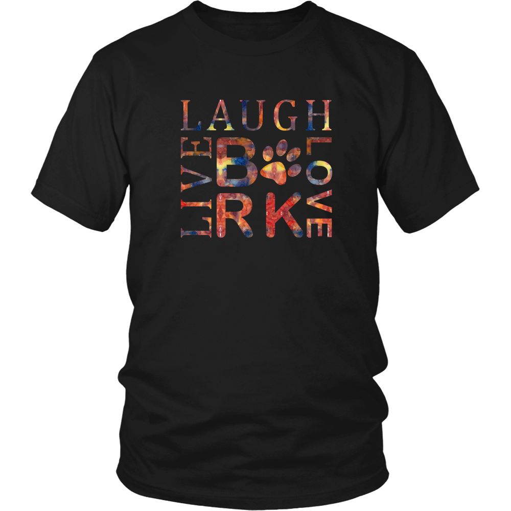 Dog Lovers Live Laugh Love Bark Tee