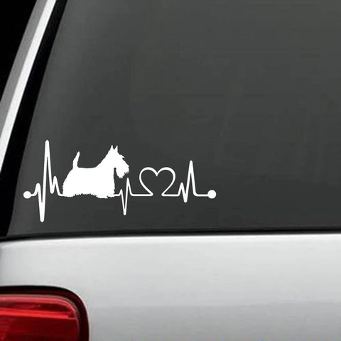 "Scottish Terrier - Scottish Terrier ""HeartBeat"" Decal"